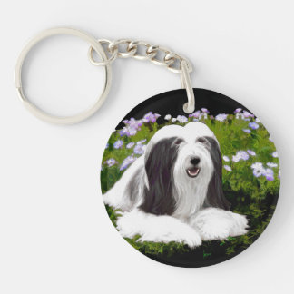 Bearded Collie (Painted) Keychain