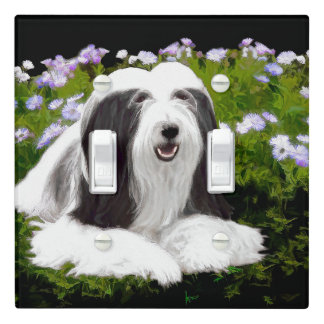 Bearded Collie (Painted) Light Switch Cover