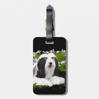 Bearded Collie (Painted) Luggage Tag