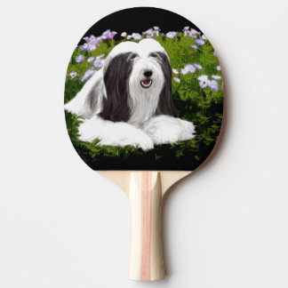 Bearded Collie (Painted) Ping Pong Paddle