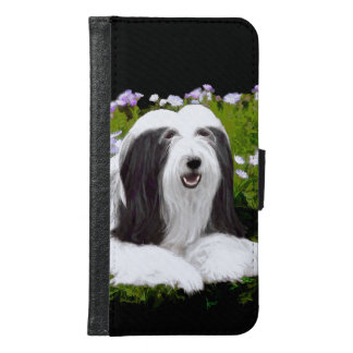Bearded Collie (Painted) Samsung Galaxy S6 Wallet Case