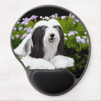 Bearded Collie Painting - Cute Original Dog Art Gel Mouse Pad