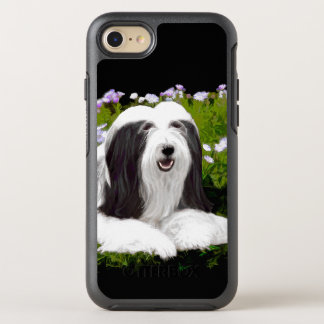 Bearded Collie Painting - Cute Original Dog Art OtterBox Symmetry iPhone 8/7 Case