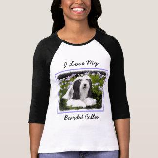 Bearded Collie Painting - Cute Original Dog Art T-Shirt