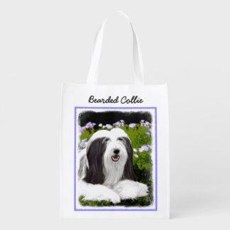 Bearded Collie Reusable Grocery Bag
