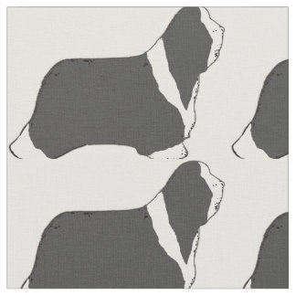 Bearded Collie silhouette.png Fabric