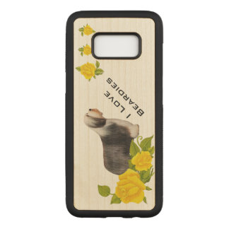 Bearded Collie with Yellow Roses Carved Samsung Galaxy S8 Case