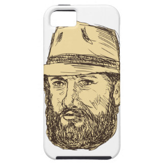 Bearded Cowboy Head Drawing Case For The iPhone 5