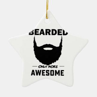 bearded cubby ceramic ornament