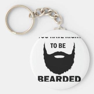 bearded cubby keychain