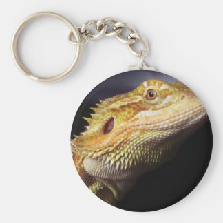 Bearded Dragon Head 2 Basic Round Button Keychain