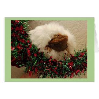 Bearded Dragon Holiday Card