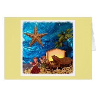 Bearded Dragon Nativity Christmas Card