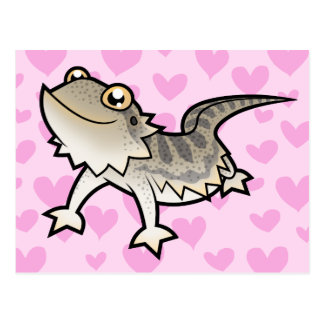 Bearded Dragon / Rankin Dragon Love Postcard