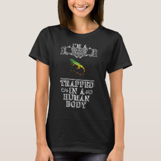 Bearded Dragon Trapped in Human Body Reptile Shirt