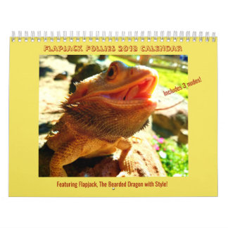 Bearded Dragon with Style 2018 Calendar