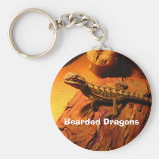 Bearded Dragons Basic Round Button Keychain