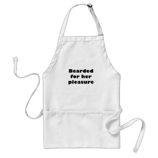 Bearded for her Pleasure Aprons