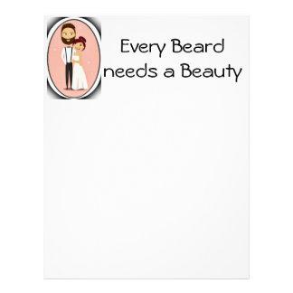 Bearded Groom with Bride Custom Letterhead