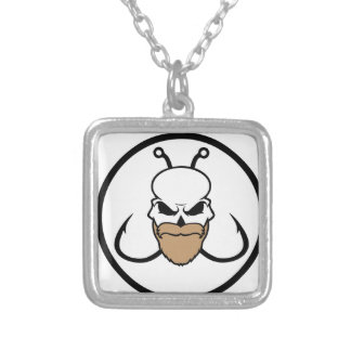 bearded-hookers silver plated necklace