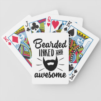bearded inked and awesome bicycle playing cards