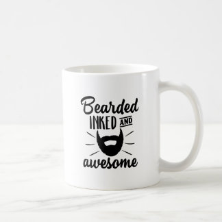 bearded inked and awesome coffee mug