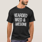 Bearded Inked and Awesome funny men's shirt