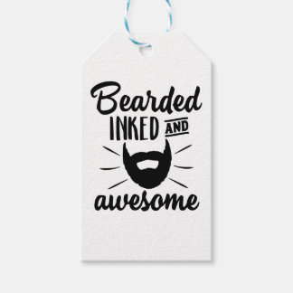 bearded inked and awesome gift tags