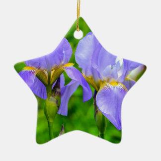 Bearded Iris Ceramic Ornament