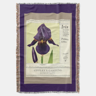 Bearded Iris Flowers Seed Package Throw Blanket