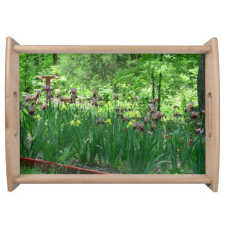 Bearded Iris Garden Serving Tray