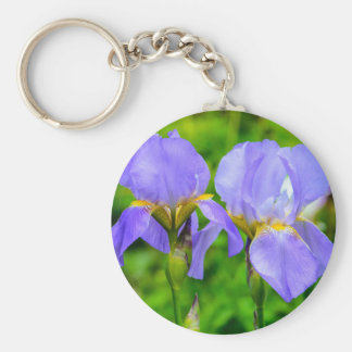 Bearded Iris Keychain