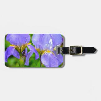 Bearded Iris Luggage Tag