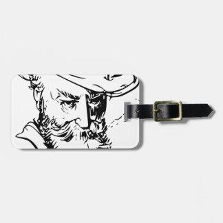 Bearded man bag tag