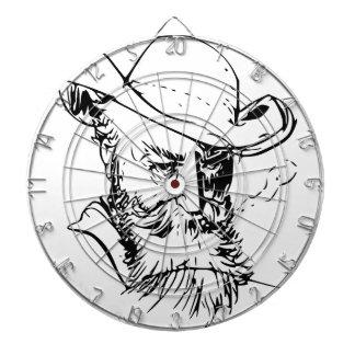 Bearded man dart board