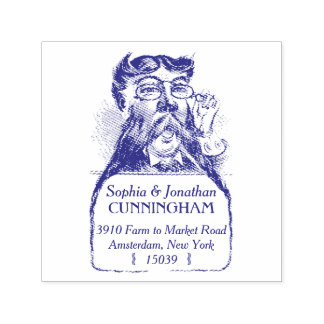 Bearded Man Self Ink Return Address Stamp