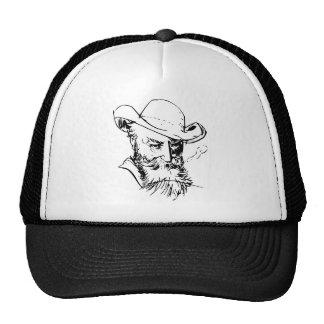 Bearded man trucker hat