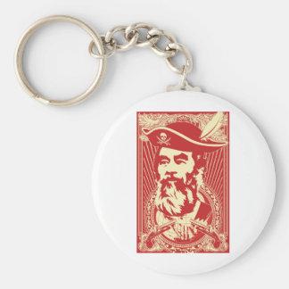 Bearded Saddam Hussein Portrait Keychain