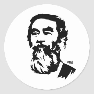 Bearded Saddam Hussein Portrait Sticker