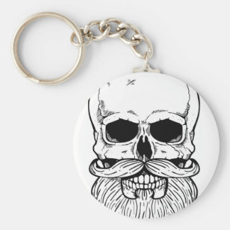 Bearded skull keychain