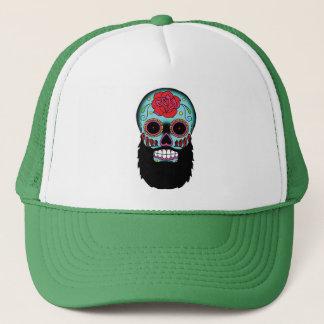 Bearded Sugar Skull Trucker Hat
