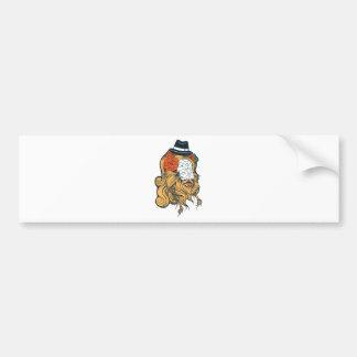 bearded women girl bumper sticker