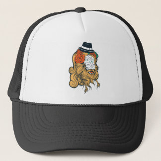 bearded women girl trucker hat