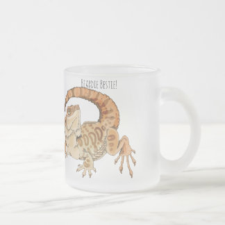 Beardie Bestie! Frosted Glass Coffee Mug