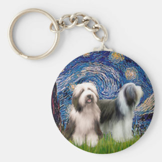 Beardie Pair 1 - Starry Night Keychain