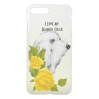 Beardie w/Yellow Roses iPhone7+ Deflector Case