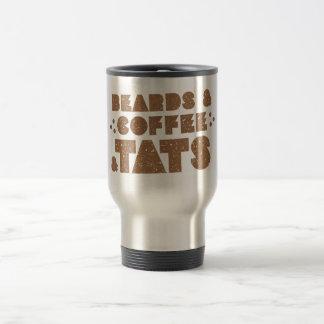 beards and coffee and tats travel mug