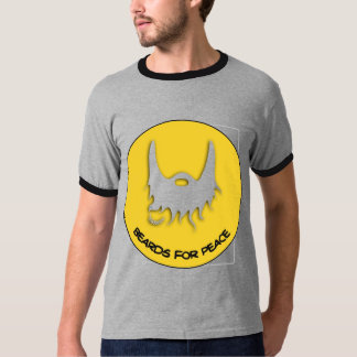 Beards for Peace Dove Yellow T-Shirt