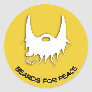 beards for peace sticker new logo
