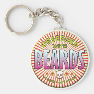 Beards Obsessed R Basic Round Button Keychain